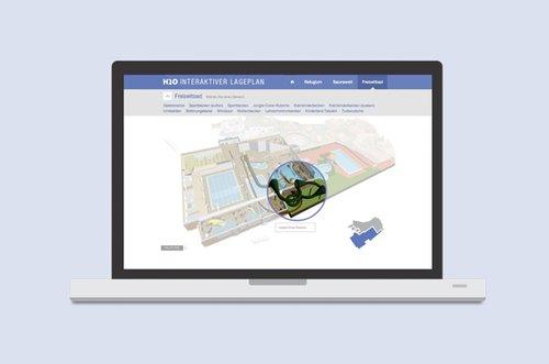 H2O Interaktiver Lageplan