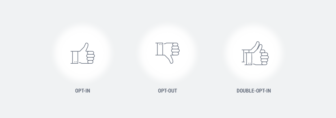 Icons zur Visualisierung der opt-in/opt-out-Modelle